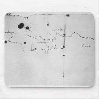 Sketch of the coast of Espanola, Mouse Mat