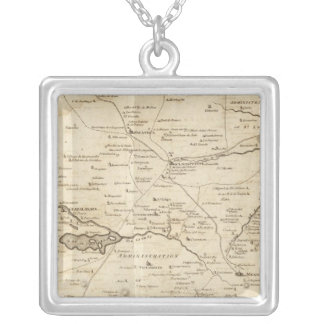 Sketch of the Internal Provinces of New Spain Silver Plated Necklace