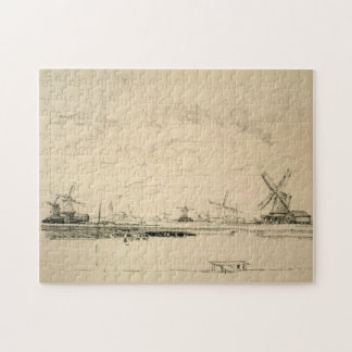 Sketch of Windmills Jigsaw Puzzle