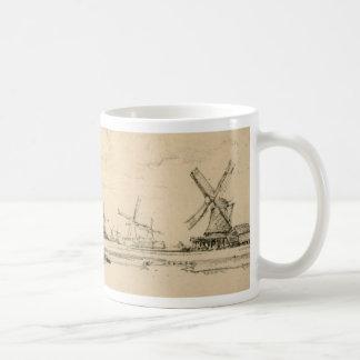 Sketch of Windmills mug