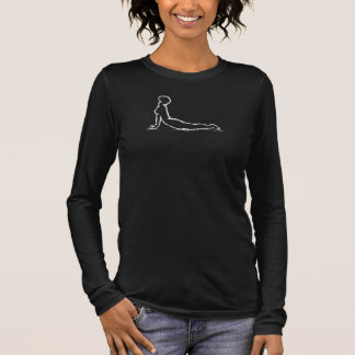 Sketch of Yoga Pose Cobra Long Sleeve T-Shirt