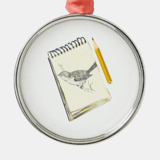 Sketch Pad Bird Christmas Ornament