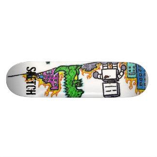 Sketch Robot Dino Skateboard