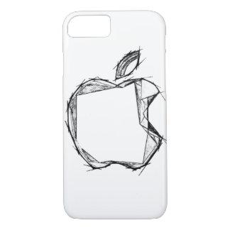 Sketch style Apple Logo CUSTOMIZABLE iPhone 7 Case