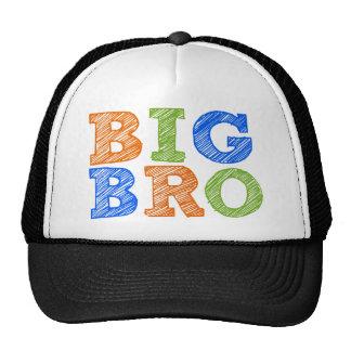 Sketch Style Big Bro Trucker Hats