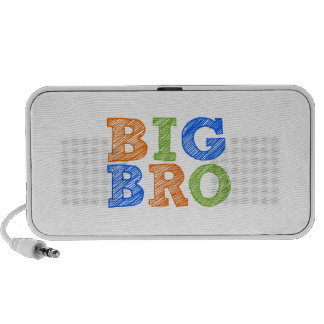 Sketch Style Big Bro Travel Speakers