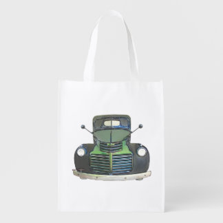 Sketched 1947 GMC Pickup Truck Shopping Bag