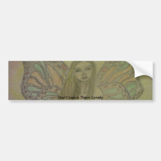 sketched angel art bumper sticker