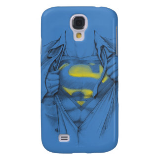 Sketched Chest Superman Logo Galaxy S4 Case