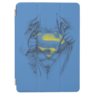Sketched Chest Superman Logo iPad Air Cover