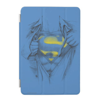 Sketched Chest Superman Logo iPad Mini Cover