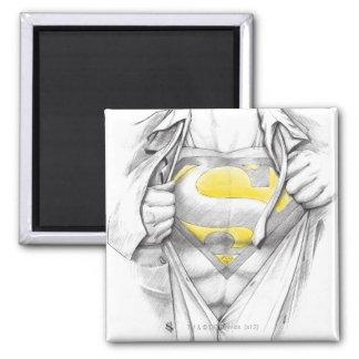 Sketched Chest Superman Logo Magnet