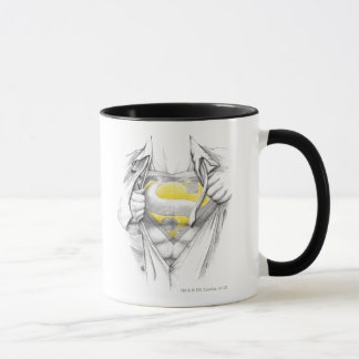 Sketched Chest Superman Logo Mug