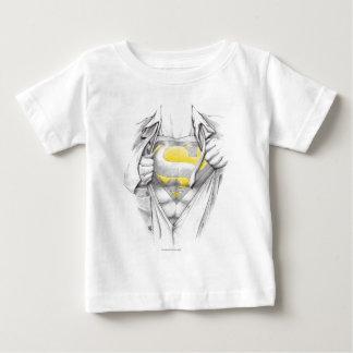 Sketched Chest Superman Logo Tshirt