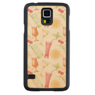 Sketched Cocktail Pattern Maple Galaxy S5 Slim Case