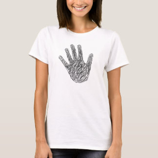 Sketched hand black pen T-Shirt