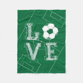 Sketched Love Soccer Fleece Blanket
