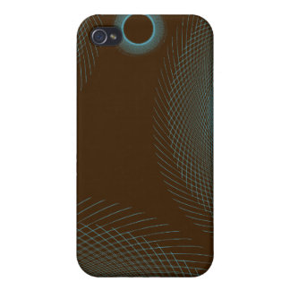 Sketched Rings blue brown Case For iPhone 4