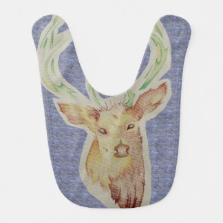 Sketched Stag Baby Bib