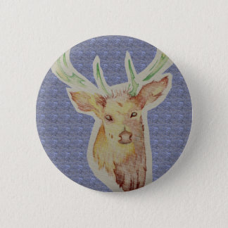 sketched stag badge