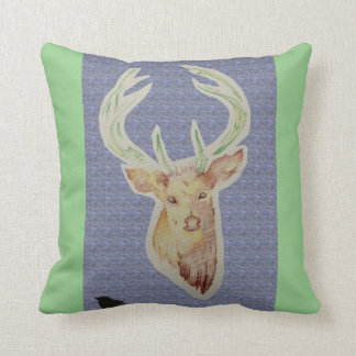 Sketched Stag Cushion(changeable cushion colour)