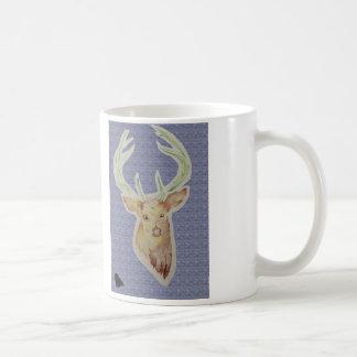 sketched stag mug