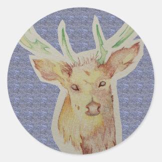 sketched stag sticker