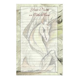 Sketched Unicorn Stationary Stationery