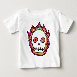 Sketchy Flaming Skull Baby T-Shirt