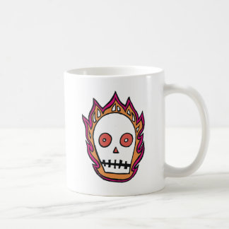 Sketchy Flaming Skull Coffee Mug