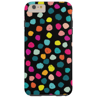 Sketchy Happy Color Dots Tough iPhone 6 Plus Case