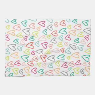 Sketchy Hearts Kitchen Towels (Rainbow)