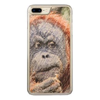 sketchy orang carved iPhone 8 plus/7 plus case