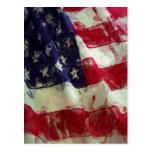 Sketchy Painting Style USA Flag Postcard