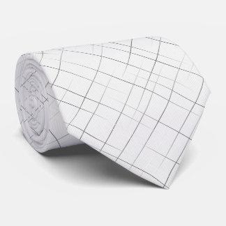 Sketchy Pinstripes (White) Tie