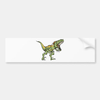 Sketchy Raptor dinosaur products Bumper Stickers