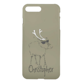 Sketchy Reindeer with Sunglasses on Dried Herb iPhone 7 Plus Case