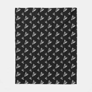 Sketchy Sailboat Pattern Fleece Blanket