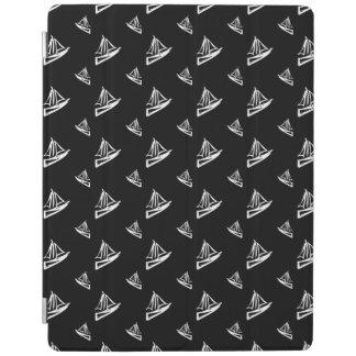 Sketchy Sailboat Pattern iPad Cover