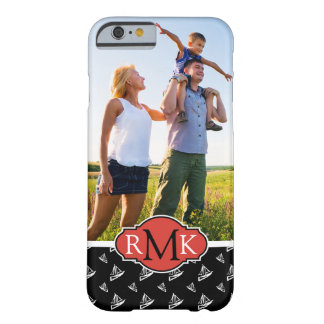 Sketchy Sailboat Pattern| Your Photo & Monogram Barely There iPhone 6 Case