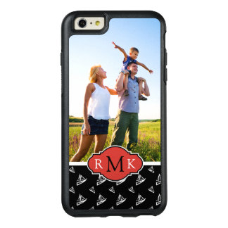 Sketchy Sailboat Pattern| Your Photo & Monogram OtterBox iPhone 6/6s Plus Case