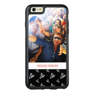 Sketchy Sailboat Pattern   Your Photo & Text OtterBox iPhone 6/6s Plus Case