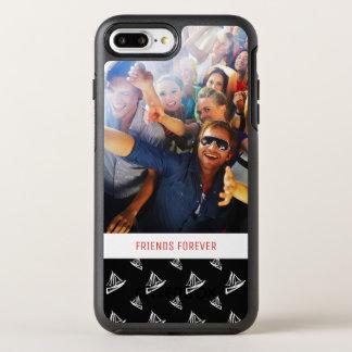 Sketchy Sailboat Pattern   Your Photo & Text OtterBox Symmetry iPhone 8 Plus/7 Plus Case