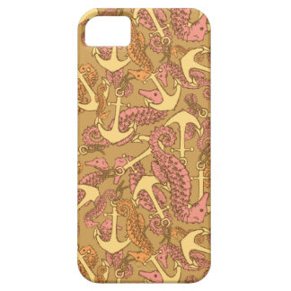Sketchy Seahorse And Anchor Pattern iPhone 5 Cover