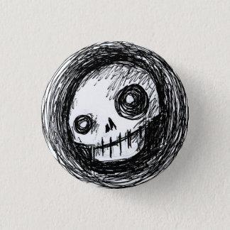 Sketchy Skull 3 Cm Round Badge
