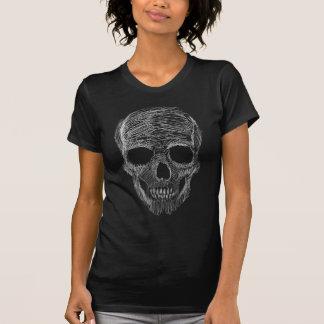 Sketchy Skull Women's Dark Destroyed T-Shirt