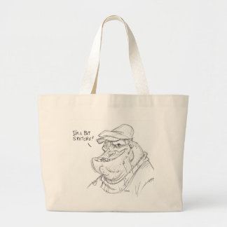 Sketchy Jumbo Tote Bag