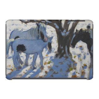 Skewbald Ponies in Winter 2012 iPad Mini Retina Covers