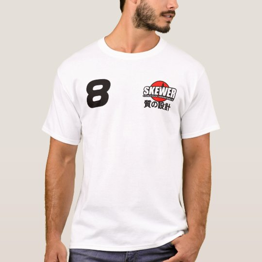 Skewer JDM White T-Shirt