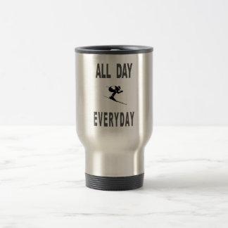 Ski All Day Everyday Travel Mug